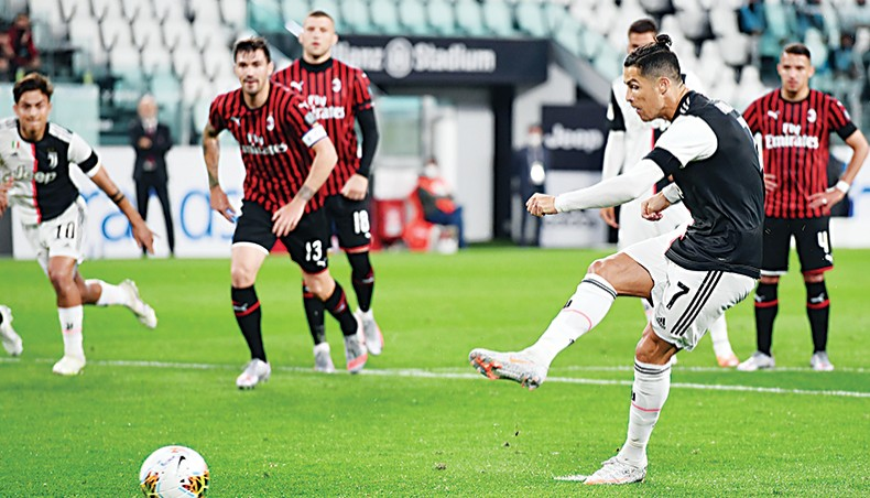 Juventus Closer To Ninth Straight Serie A Title Thanks to Ronaldo Penalties